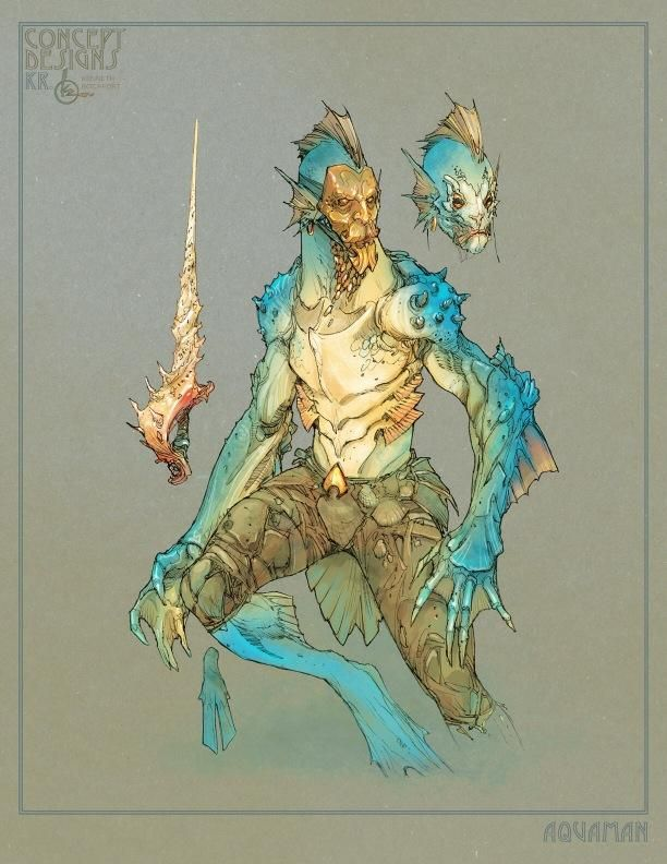 Redesigned Aquaman by Kenneth Rocafort