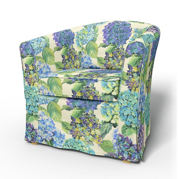 Tullsta, Armchair Covers, Armchair, Regular Fit with piping using the fabric Jardin Exochic Mediterranée