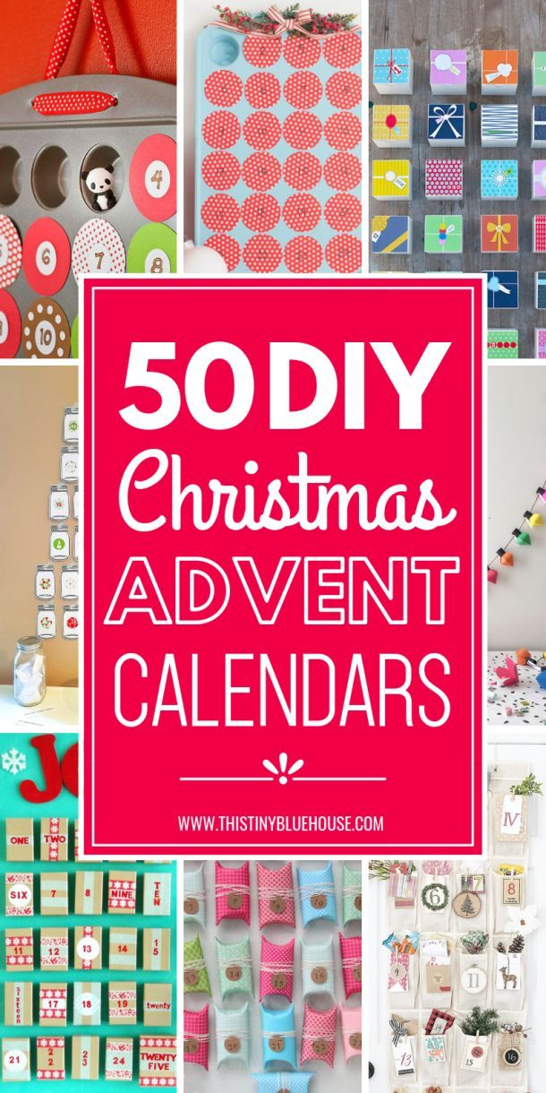 50 Gorgeous DIY Advent Calendar Ideas Idle Hands Pinterest