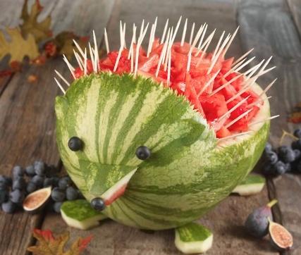 Porcupine Watermelon Bowl