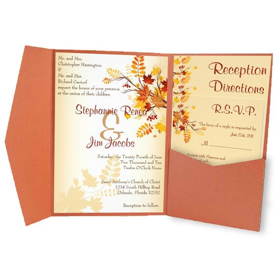 DIGITAL FILES - Diy Wedding Invitation & Mailing Template Set - Customized Printable Personalized KL.Fall Autumn Branch Leaves Floral Tree