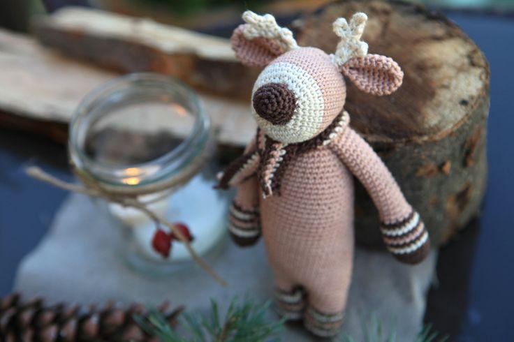 Christmas Amigurumi Deer, Crochet Deer, Baby Toy, Christmas Present, Cute Deer, Eco Friendly Toys, Natural Handmade Deer, Handmade Toy, by PiuPiuToys on Etsy