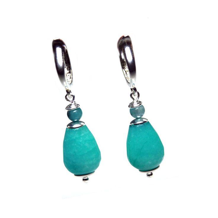 Oorbellen Classic - Sterling Zilver, Turquoise Jade en Jaspis