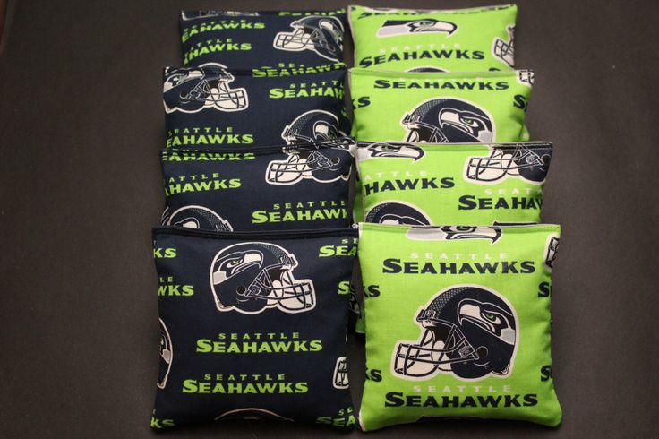SEATTLE SEAHAWKS Cornhole Bean Bags 8 ACA Regulation Corn Hole Bags Baggo Toss Tailgate Game by lots2ofr2 on Etsy https://www.etsy.com/listing/211671546/seattle-seahawks-cornhole-bean-bags-8
