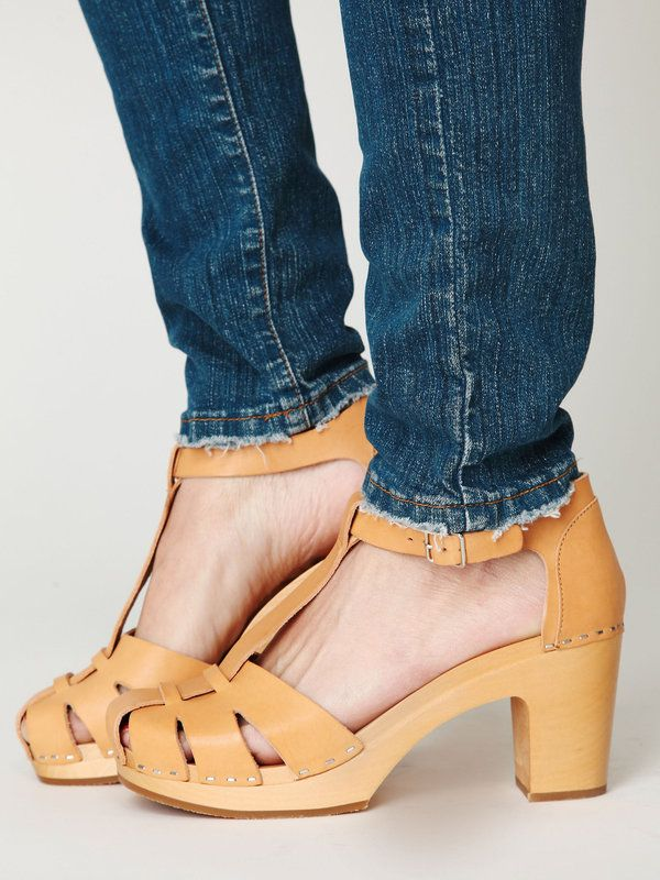 Always a fan of the clog! Free People Swedish Hasbeens Sanibel T