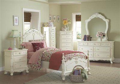 Homelegance Cinderella Bedroom Set, Ecru  For molly