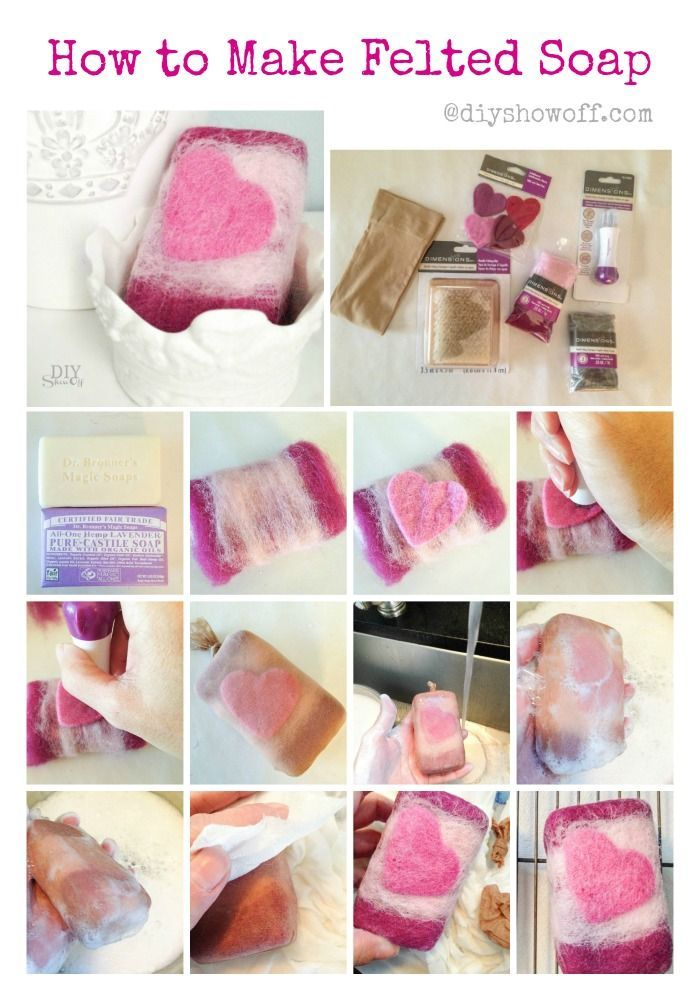 How to Make Felted Soap @diyshowoff.com #MichaelsmMakers