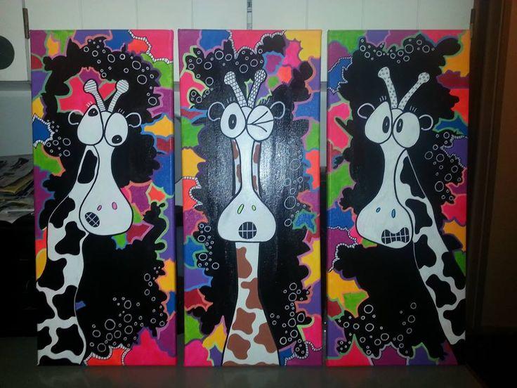 3 glade skøre giraffer