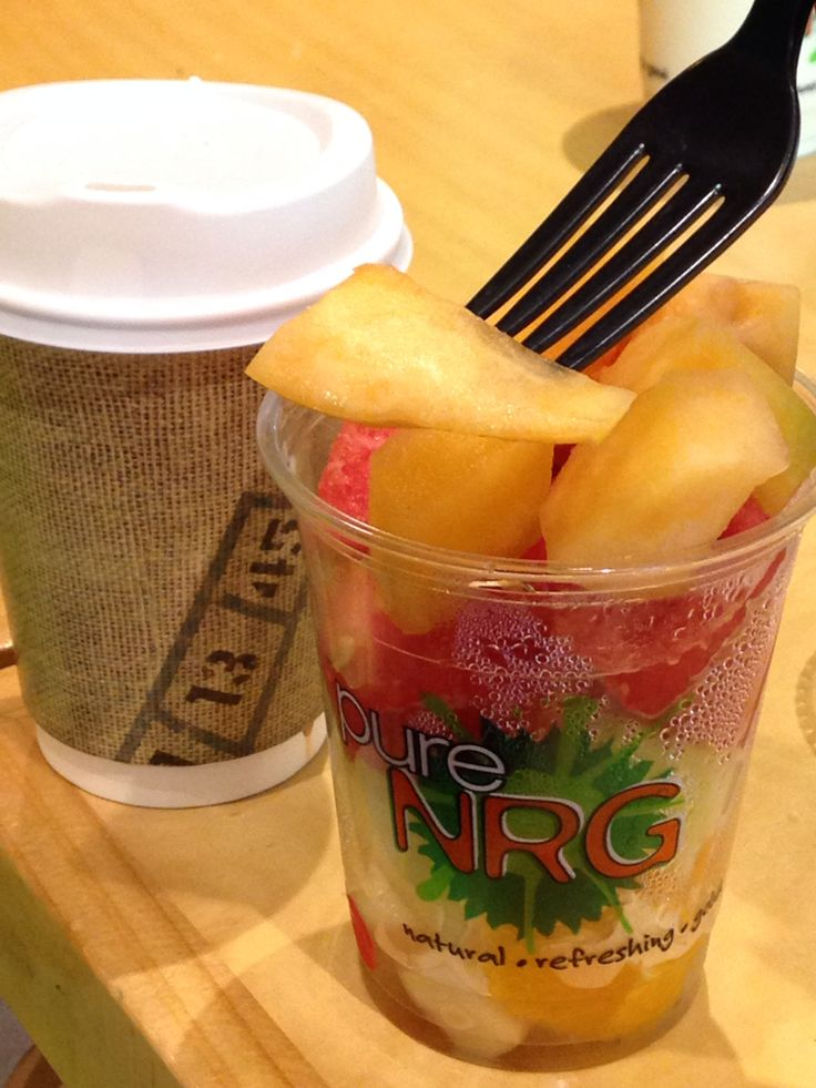 Coffee and fruit.  Australia feel fresh.