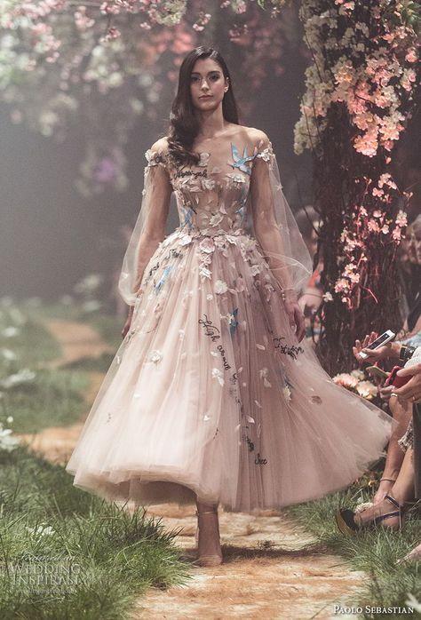 paolo sebastian frühling 2018 couture lange bischofsärmel illusion juwel schatz …
