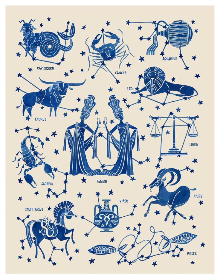 Zodiac illustration by Teresa Grasseschi