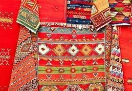 tapijten - kleurrijke marokkaanse tapijten