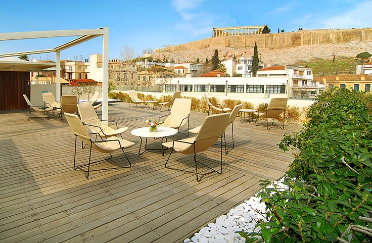 At the #Roof #Garden you can enjoy the spectacular view to the #Acropolis and the #Museum, enjoy a cocktail under the blue sky of #Attica or have a light meal any time of the day. Upon request the hotel can organize any private event you may wish at the open-air terrace.