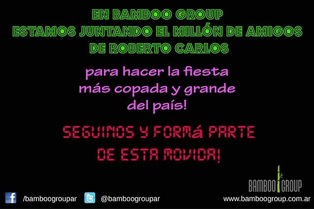 Estamos juntando un millón de amigos para Roberto Carlos asi hacemos la mega fiesta más grande de Argentina...hacete amigo y sumate a esta movida!
