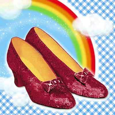 RARE Wizard of Oz Dorothy Shoes Ruby Slippers Birthday Party Luncheon Napkins
