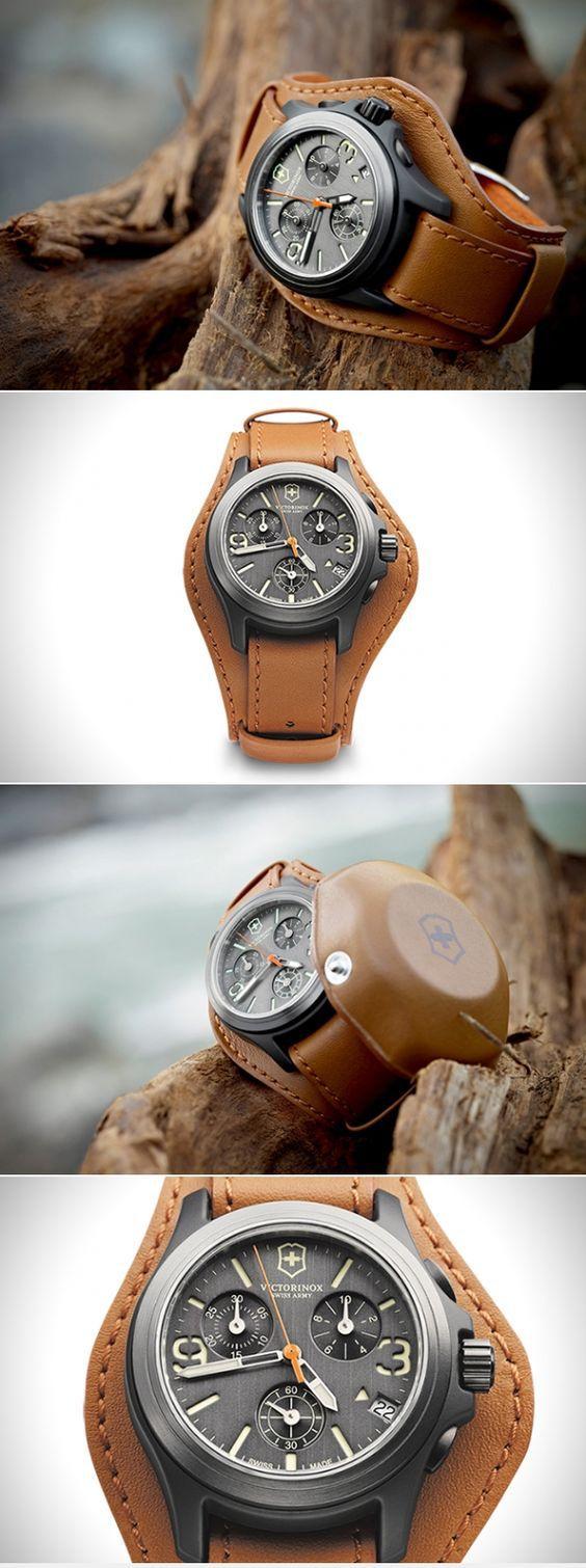 Swiss Army Victorinox Original LE Leather Chronograph Mens Watch