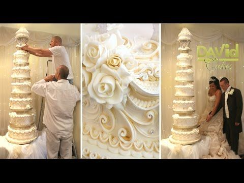 CAKE DECORATING TECHNIQUES ROYAL ICING PIPING IDEAS TUTORIALS - HOW TO DECORATE BIG WEDDING CAKES - YouTube
