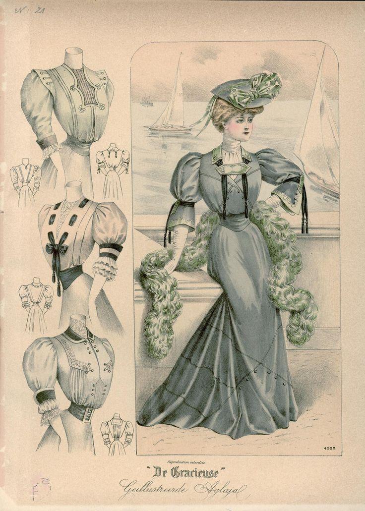Gracieuse. Geïllustreerde Aglaja, 1906, aflevering 21, pagina 252/1