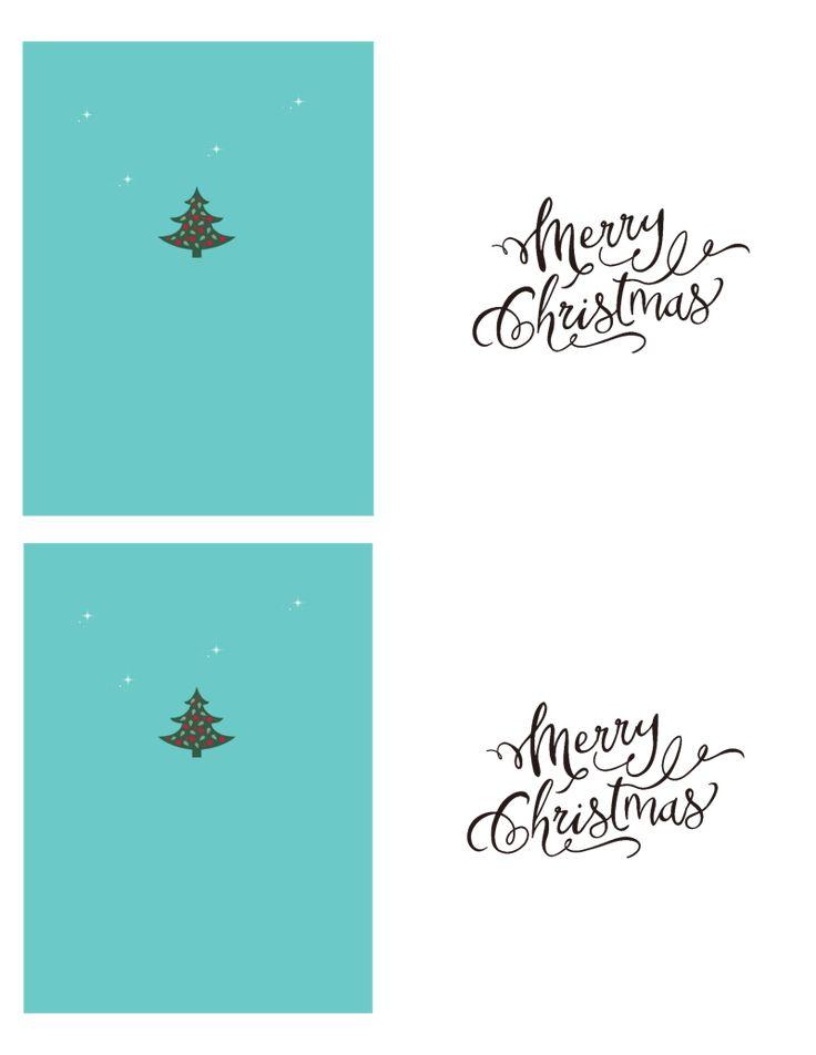 Printable or Make Your Own Christmas Cards