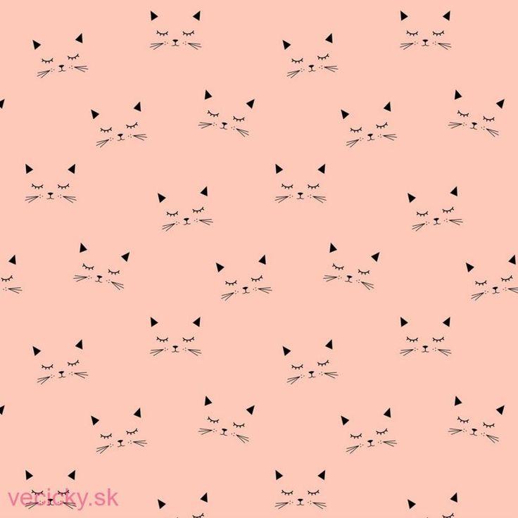BIO JEDNOLÍCNY ÚPLET - mačky ružové
