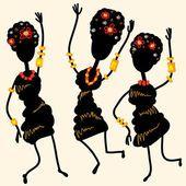 Danza africana — Vector de stock