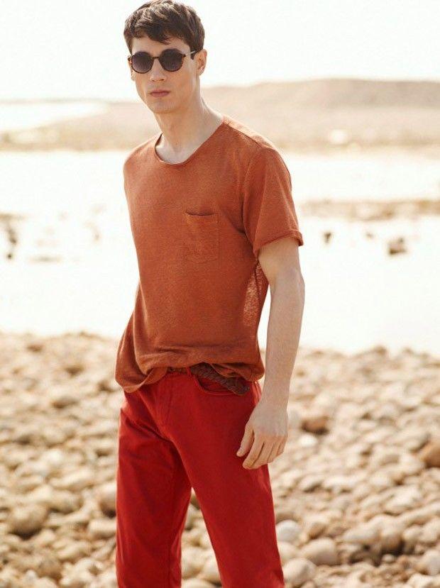 Nicolas Ripoll for Mango May  cores análogas como laranja escuro com vermelho fica cool: