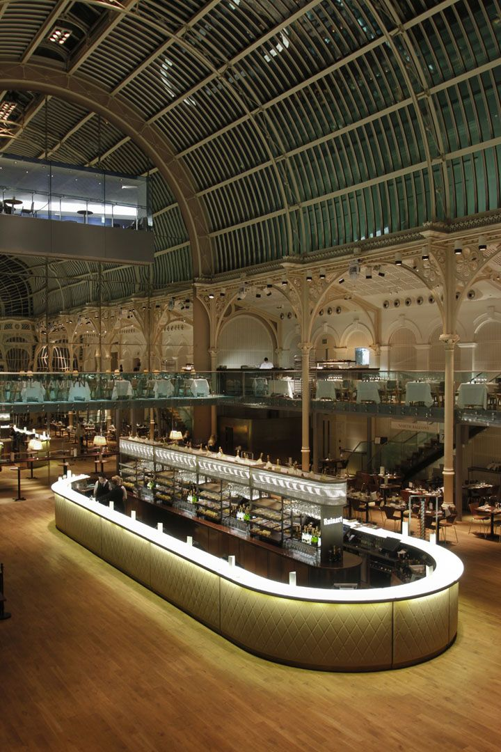 Paul Hamlyn Hall Champagne Bar at the Royal Opera House in London, UK by B3 Designers