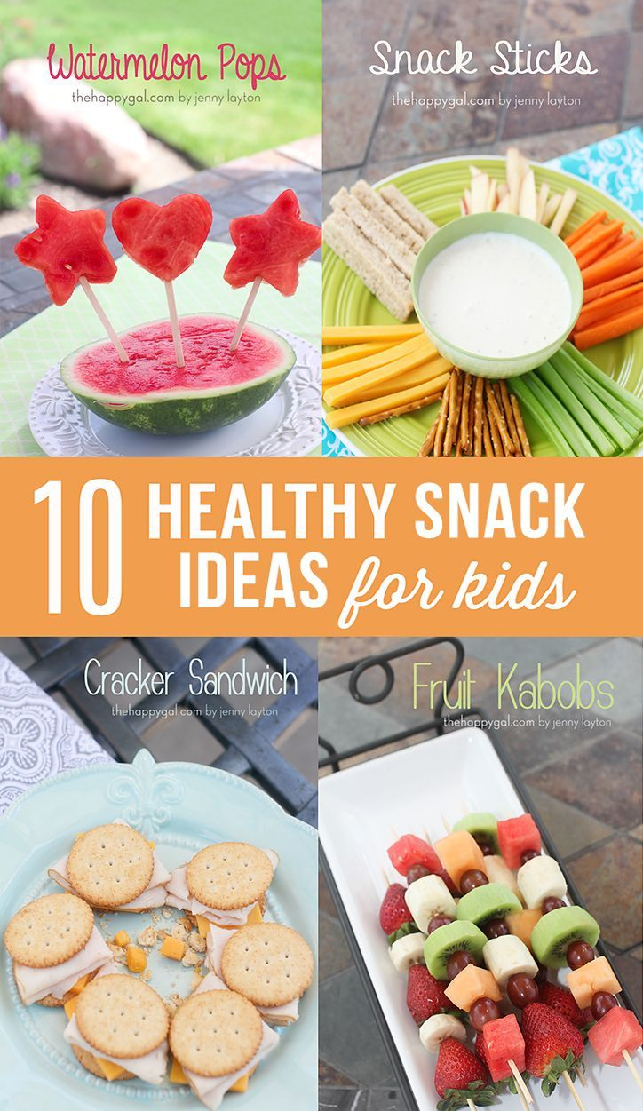 10 Healthy Kids Snack Ideas -  Lot's of simple and healthy snack ideas for the kiddos! Great after school snacks.