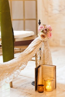 Another great way to bring books into the wedding day
