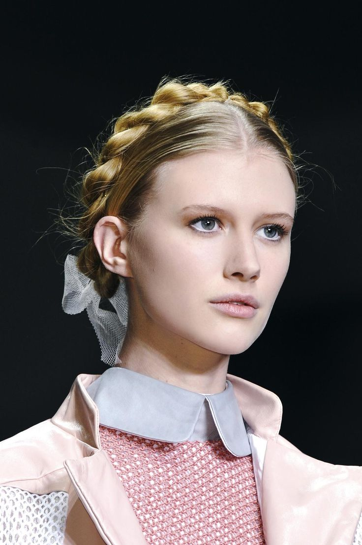 10 Hairstyles to Help Hide Outgrown Roots | Milkmaid braid, Hair style and Braid hair