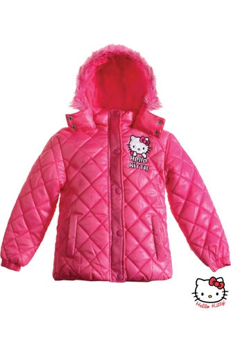$53 Girls Official Hello Kitty Jacket Padded Winter Jacket Coat Sz 4 to14 AGE Pink | eBay