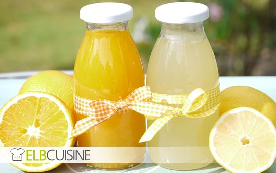 Selbstgemachte Orangen- und Zitronenlimonade. So schmeckt der Sommer.