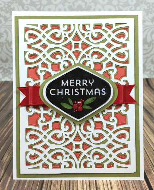 Cricut Anna Griffin Lovely Layers Christmas card                                                                                                                                                                                 More