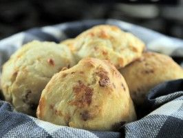 "From Bobby Deen's show ""Not My Mama's Meals"" - The Son's lighter Cheese Biscuits from CookingChannelTV.com"