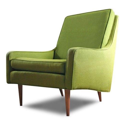 pretty cute little midcentury green chair