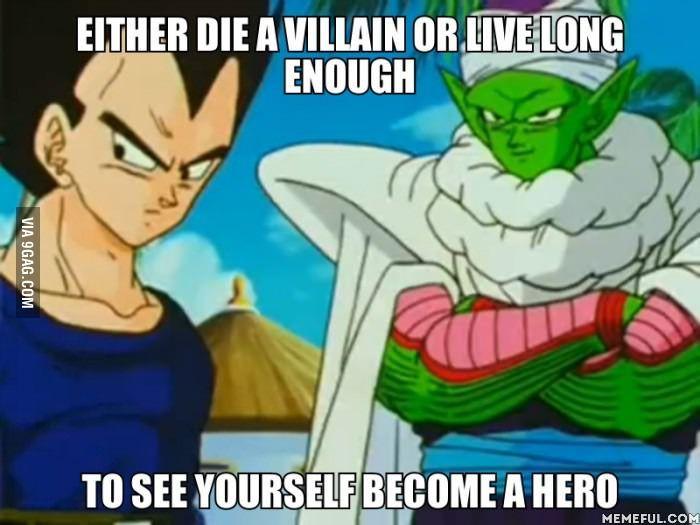 Dragonball Z: Either die a villain or live long enough