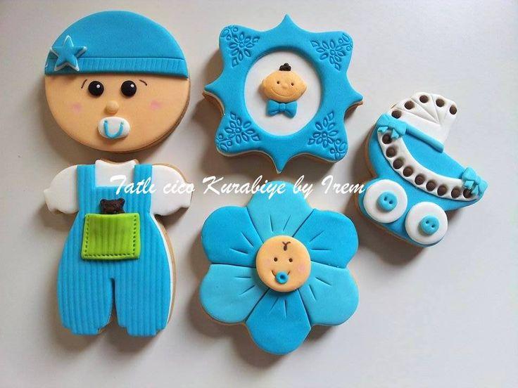 Erkek bebek kurabiyeleri