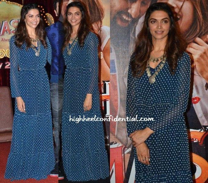 At the Tamasha trailer launch, Deepika was seen in a printed Saloni maxi paired with a Amrapali coin necklace and Aquamarine rings that gave the overall look a boho feel. I think we can all agree she looked good! Deepika Padukone at Tamasha Trailer Launch Photo Credit: Filmicafe.com More guilt readingIn Anamika KhannaIn JadeMaximizedDitto!