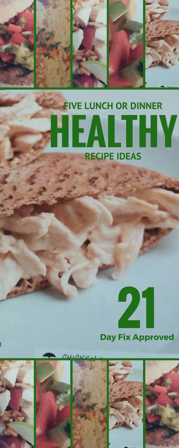 Get FIVE healthy lunch recipes - All 21 Day Fix Approved! Need help with your meal planning? This is a good place to start! Get your 5 day breakfast and lunch meal plan here! #21dayfix #recipe #healthyrecipe #mealplan #oatmeal #egg #breakfast #healthylifestyle #lunch