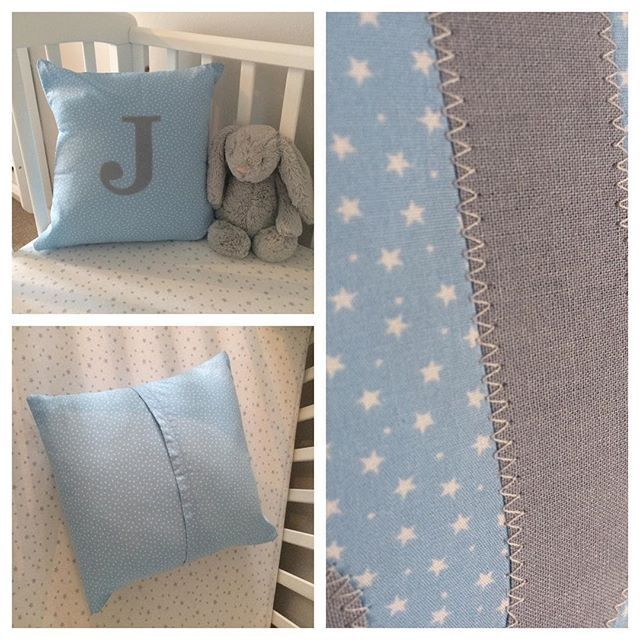 *New New New* #personalisedcushions £14 for just the cover or £18 with the insert. #initial #nurserydecor #personalisedgifts #babybearsnursery #etsy