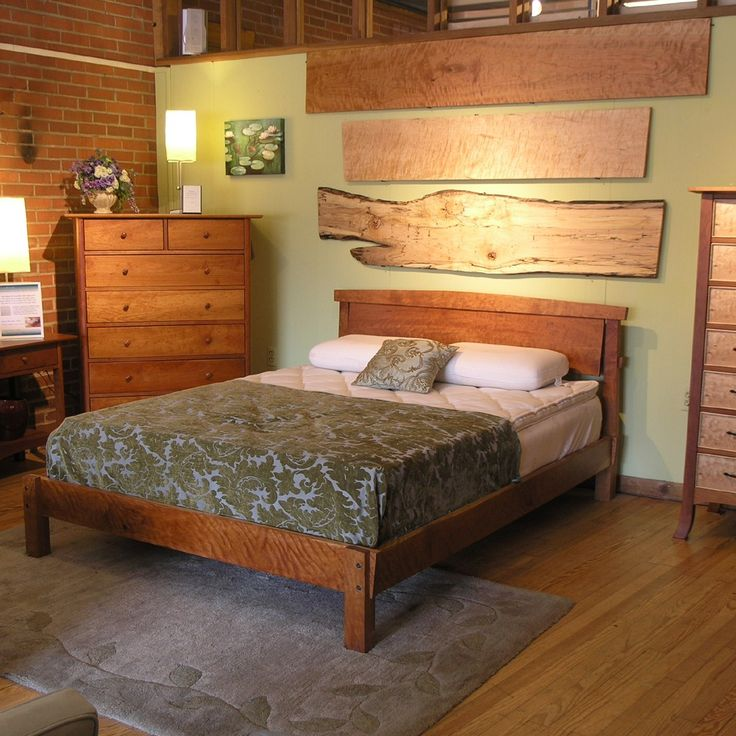 cherry sunrise bed queen size - Natural Wood Bed Frame