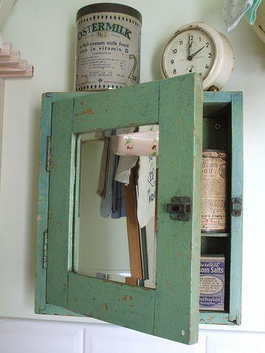 lovely old #chippy medicine chest