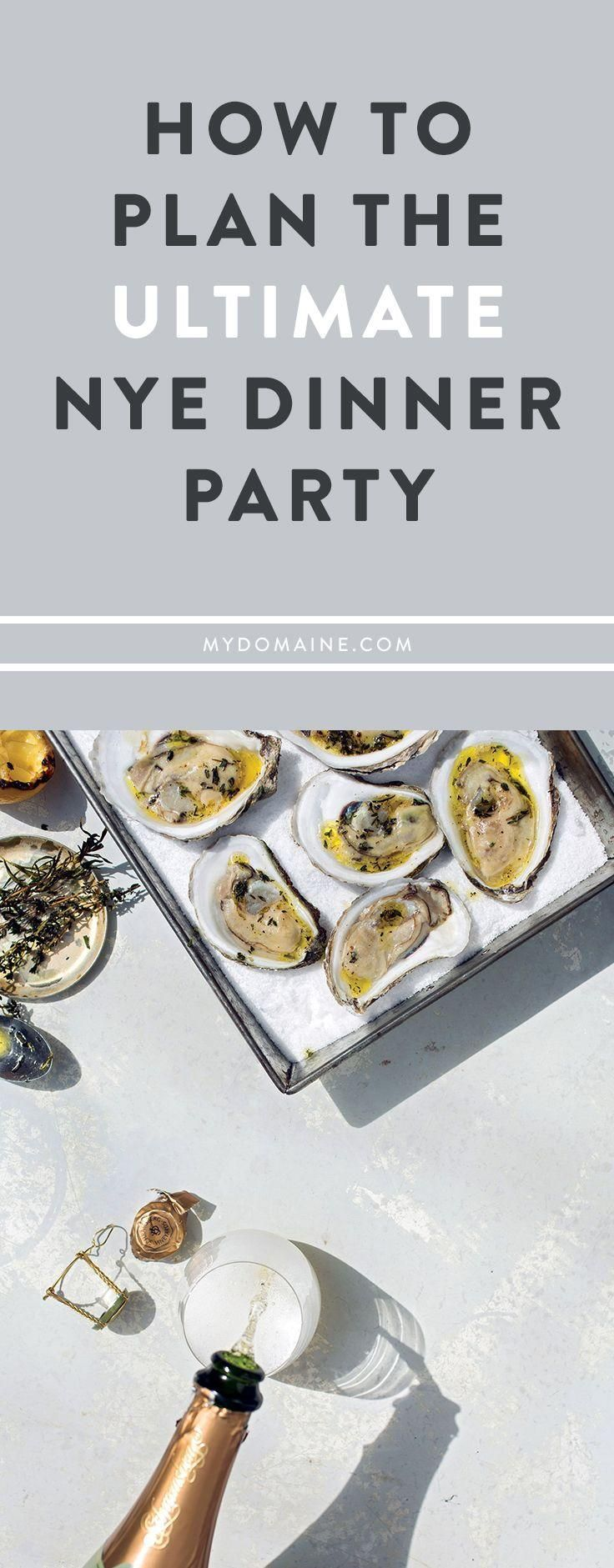 A list of everything you need to plan your best New Year's Eve dinner party!