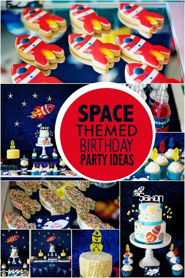 boy's space themed birthday party ideas