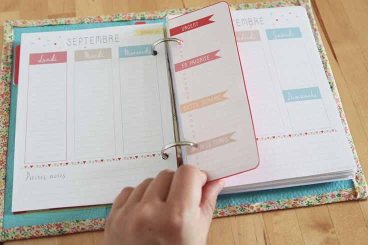 ORGANISEUR DE VIE - Agenda, fiches personnalisables, to do list, semainier ... : Calendriers par auxpetitesmerveilles