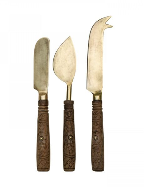 This unique set of rustic hand-carved cheese knives by Dassie Artisan are deal for any cheese lover, these beautiful knives would make a lovely addition to any kitchen. The perfect finishing touch for a cheese board, these also make wonderful gifts. Each set of cheese knives has been carefully handcrafted by talented artisans. As with all handmade items, slight size and colour variations may occur. Any imperfections are part of the artisanal appeal and should be embraced.