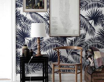 Tropischen Palm Leaf Tapete | Exotische Blätter | Palm Blatt drucken | Tropischen Wandtattoo | Tropischen Wallpaper #23