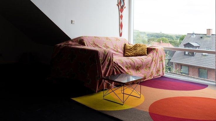 Fraster filt tæppe reflect stue med retro look