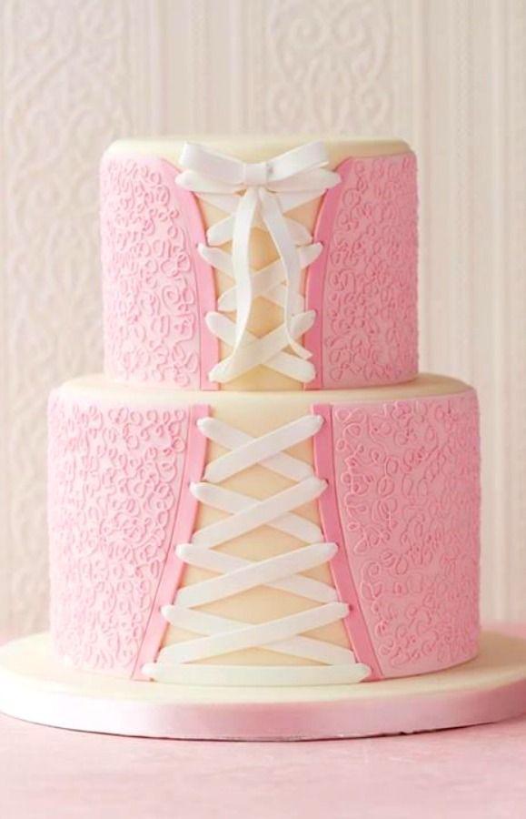Princess Light § pink corset cake via Facebook