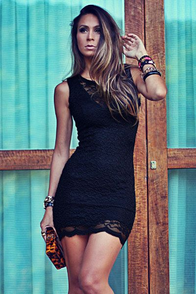 Beautiful Elegant Lace Mini Dress
